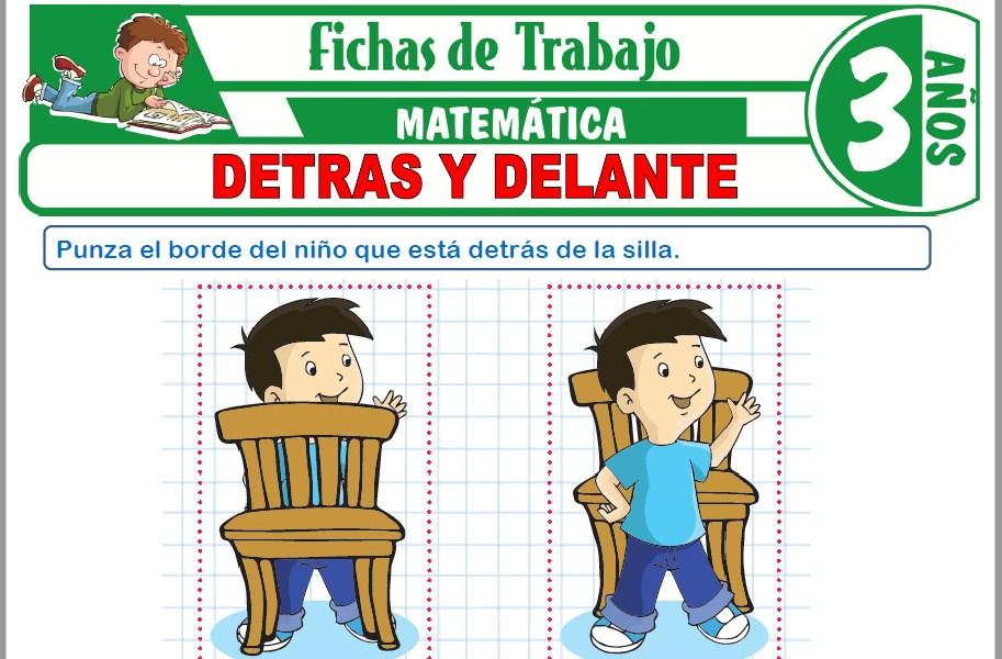 Modelos de la Ficha de Detrás y delante para Niños de Tres Años