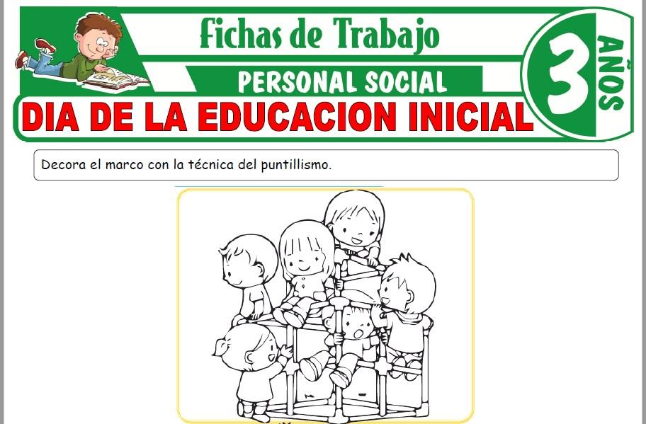 Modelos de la Ficha de Día de la educación inicial para Niños de Tres Años