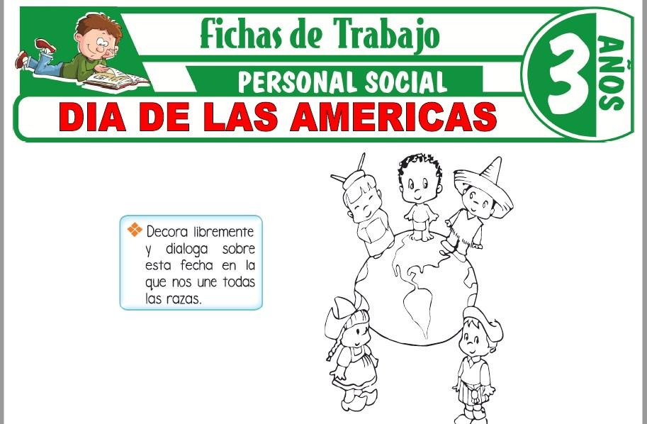 Modelos de la Ficha de Día de las Américas para Niños de Tres Años