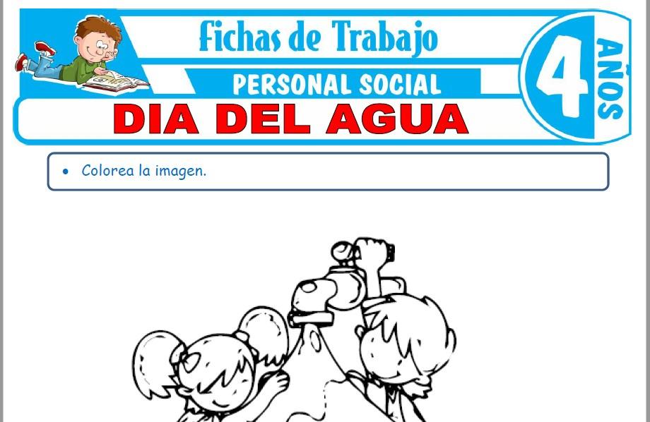 Modelos de la Ficha de Día del agua para Niños de Cuatro Años