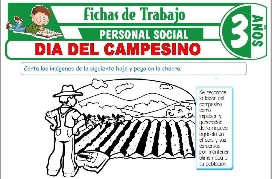 Modelos de la Ficha de Día del campesino para Niños de Tres Años