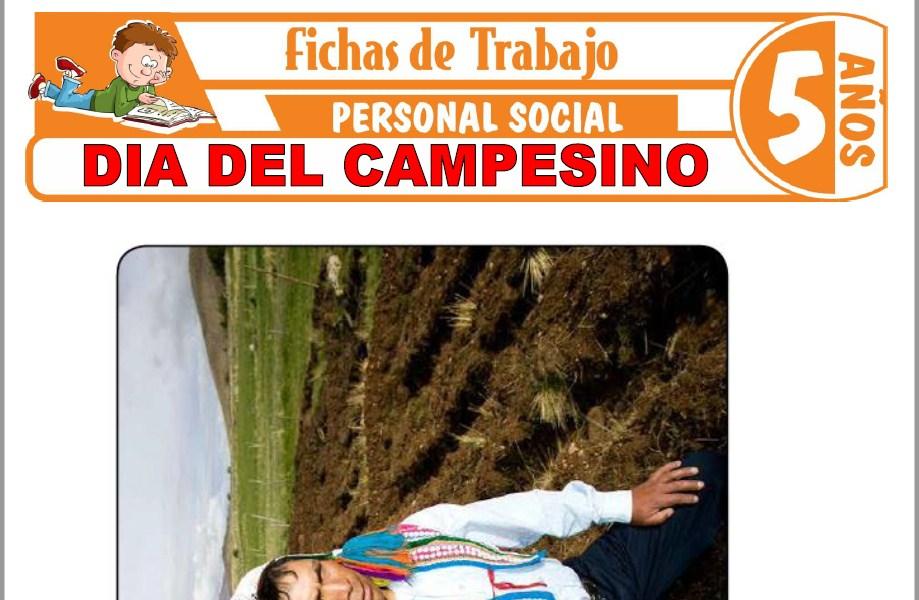 Modelos de la Ficha de Día del campesino para Niños de Cinco Años