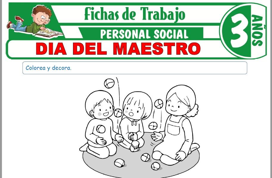 Modelos de la Ficha de Día del maestro para Niños de Tres Años