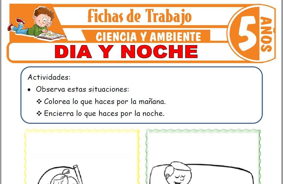 Modelos de la Ficha de Día y noche para Niños de Cinco Años