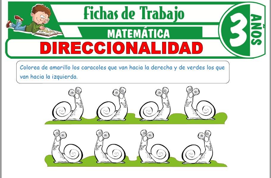 Modelos de la Ficha de Direccionalidad para Niños de Tres Años
