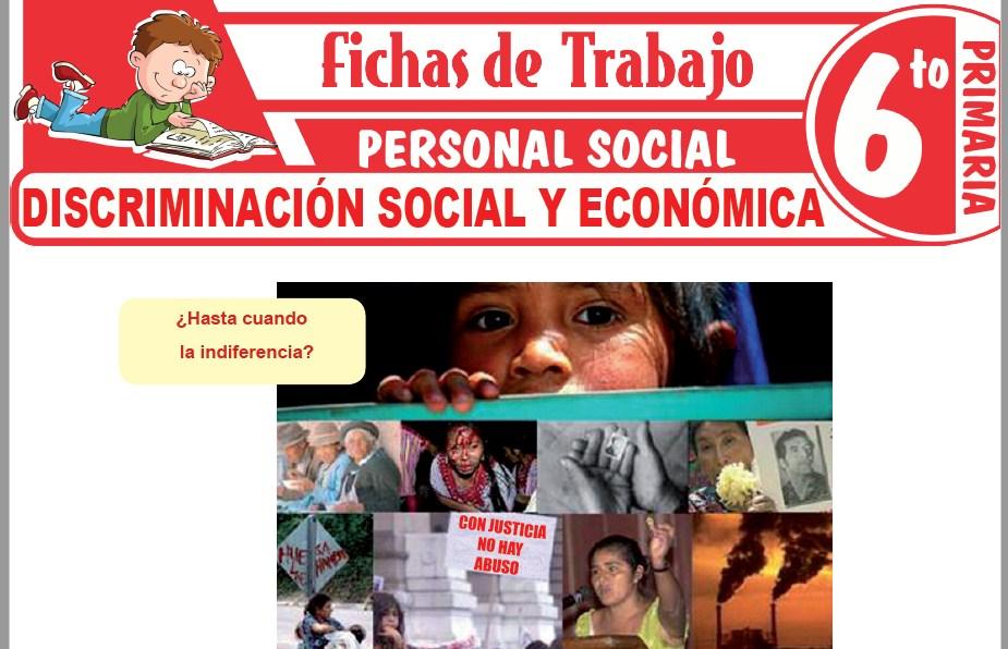 Modelos de la Ficha de Discriminación social y económica para Sexto de Primaria