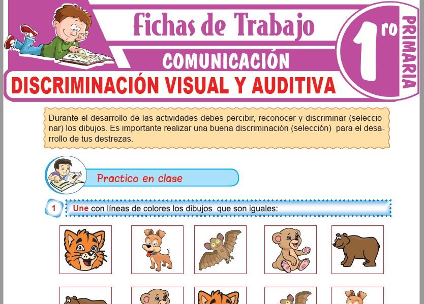 Modelos de la Ficha de Discriminación visual y auditiva para Primero de Primaria