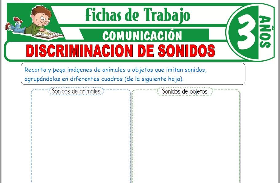 Modelos de la Ficha de Discriminación de sonidos para Niños de Tres Años