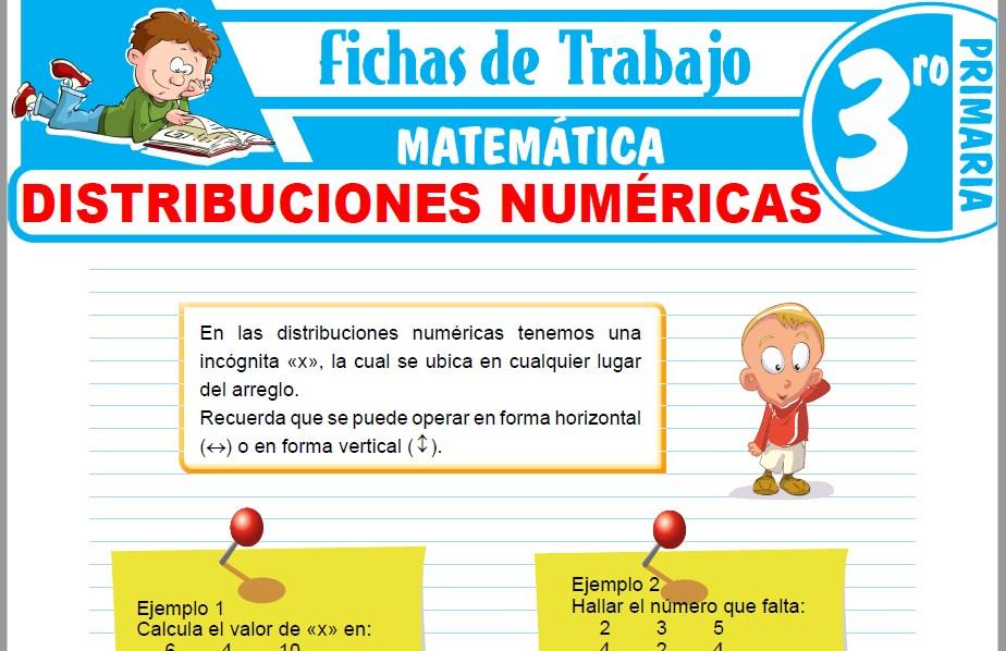 Modelos de la Ficha de Distribuciones numéricas para Tercero de Primaria