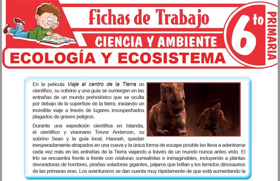 Modelos de la Ficha de Ecología y ecosistema para Sexto de Primaria