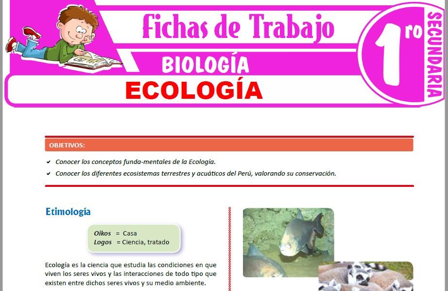 Modelos de la Ficha de Ecología para Primero de Secundaria