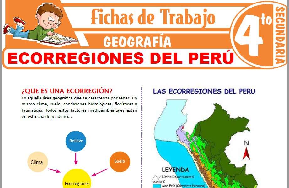 Modelos de la Ficha de Ecorregiones del Perú para Cuarto de Secundaria