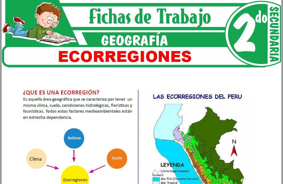 Modelos de la Ficha de Ecorregiones para Segundo de Secundaria