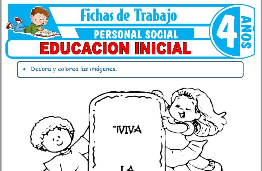 Modelos de la Ficha de Educación Inicial para Niños de Cuatro Años