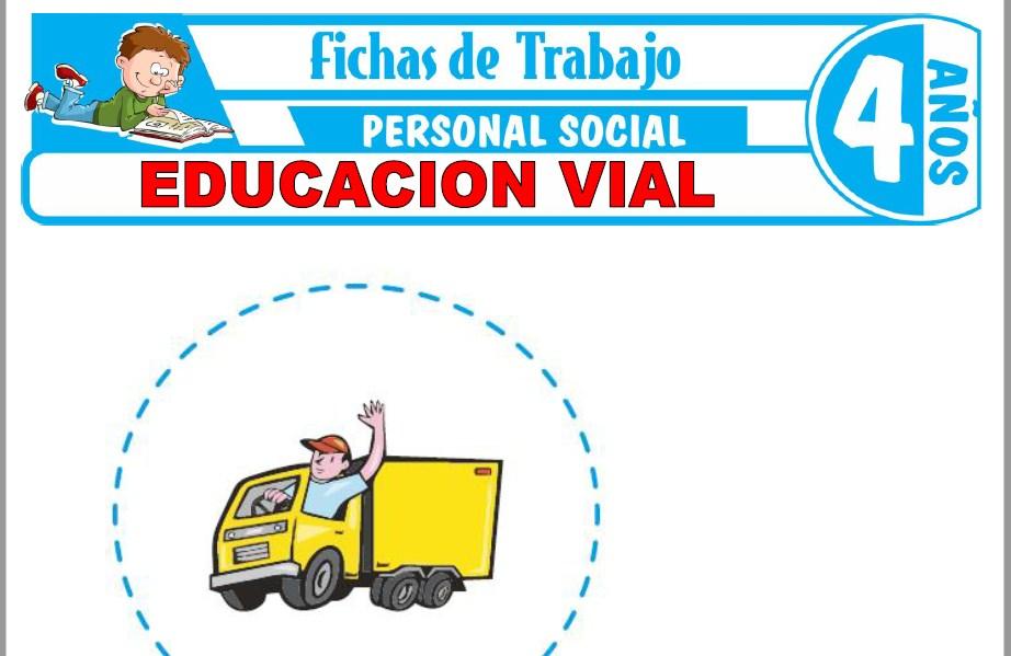 Modelos de la Ficha de Educación Vial para Niños de Cuatro Años