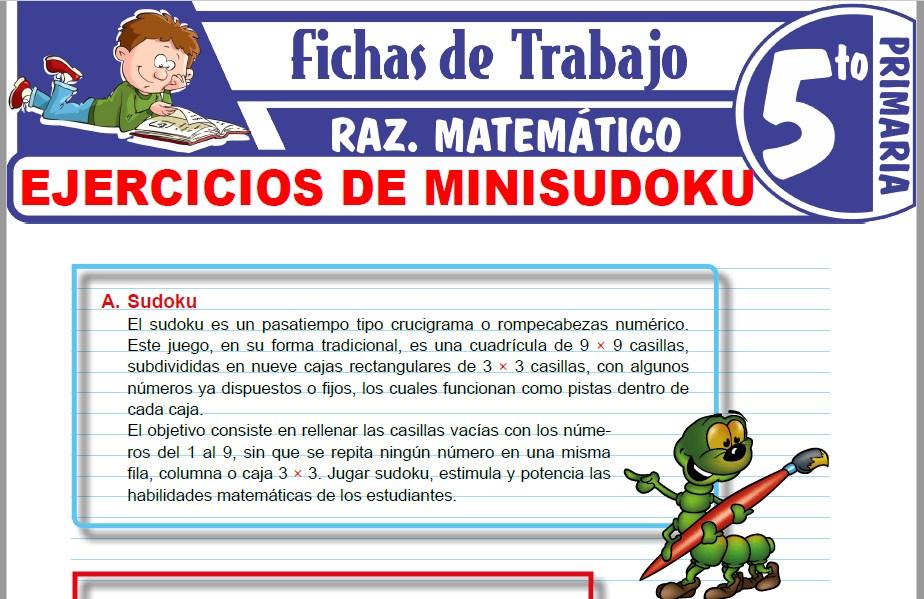 Modelos de la Ficha de Ejercicios de Minisudoku para Quinto de Primaria