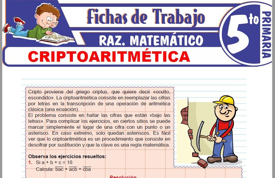 Modelos de la Ficha de Ejercicios de criptoaritmética para Quinto de Primaria