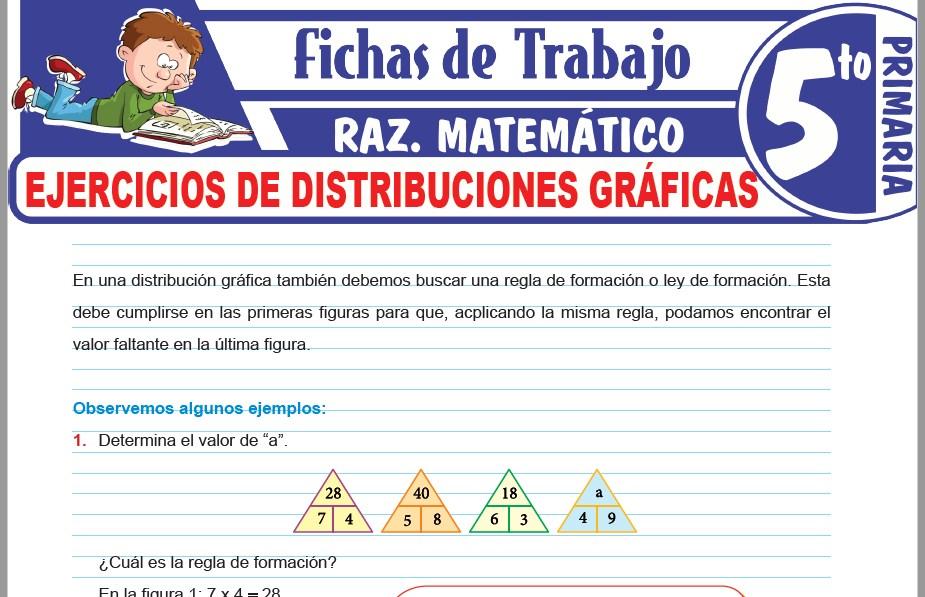 Modelos de la Ficha de Ejercicios de distribuciones gráficas para Quinto de Primaria