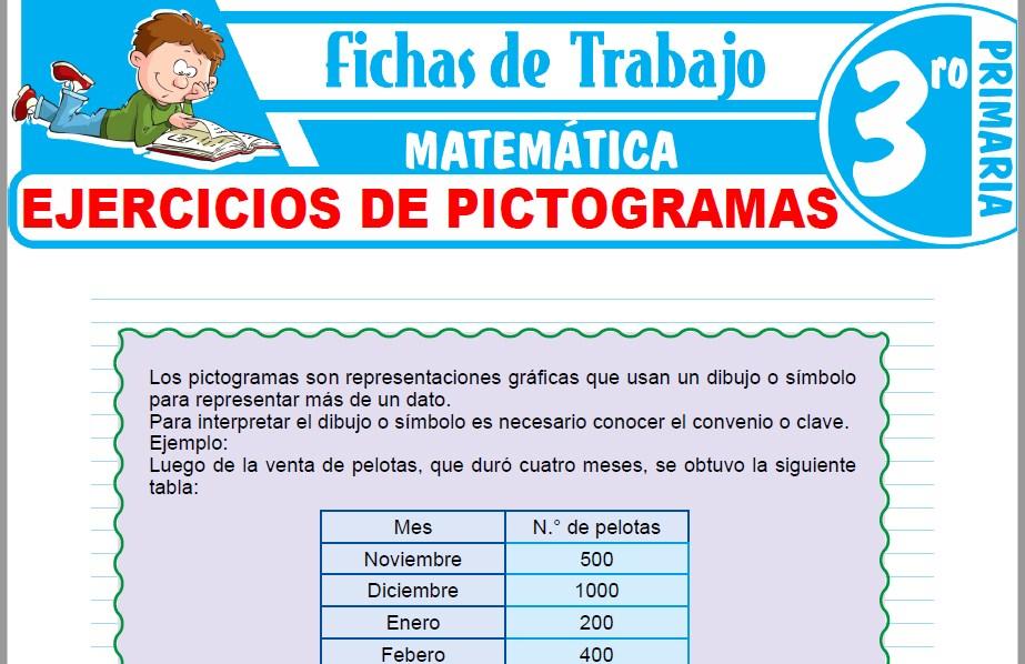 Modelos de la Ficha de Ejercicios de pictogramas para Tercero de Primaria