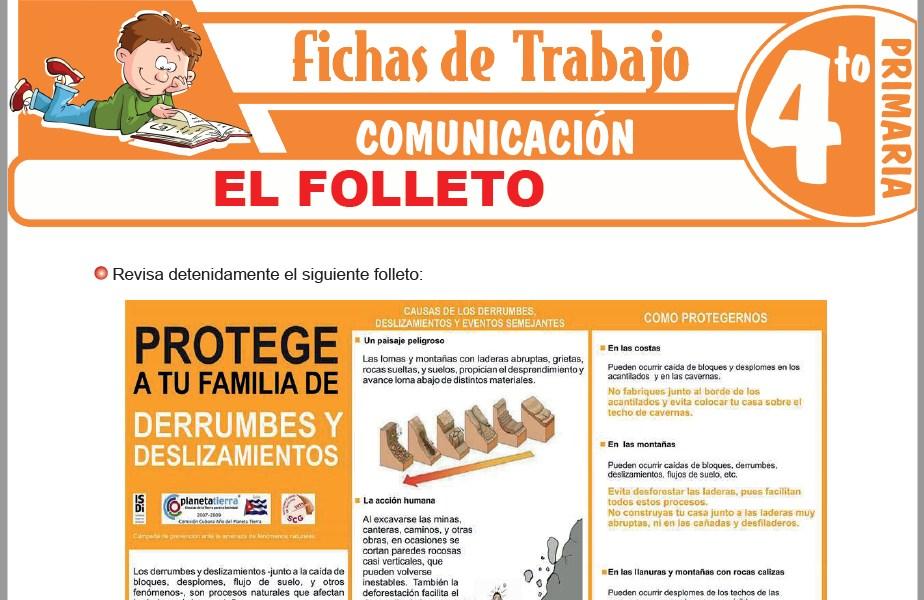 Modelos de la Ficha de El Folleto para Cuarto de Primaria