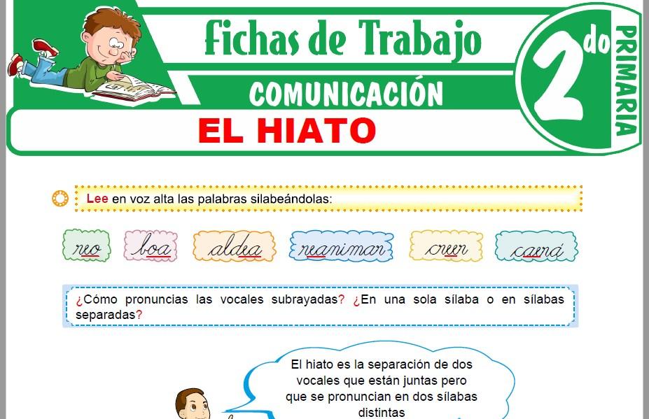 Modelos de la Ficha de El Hiato para Segundo de Primaria
