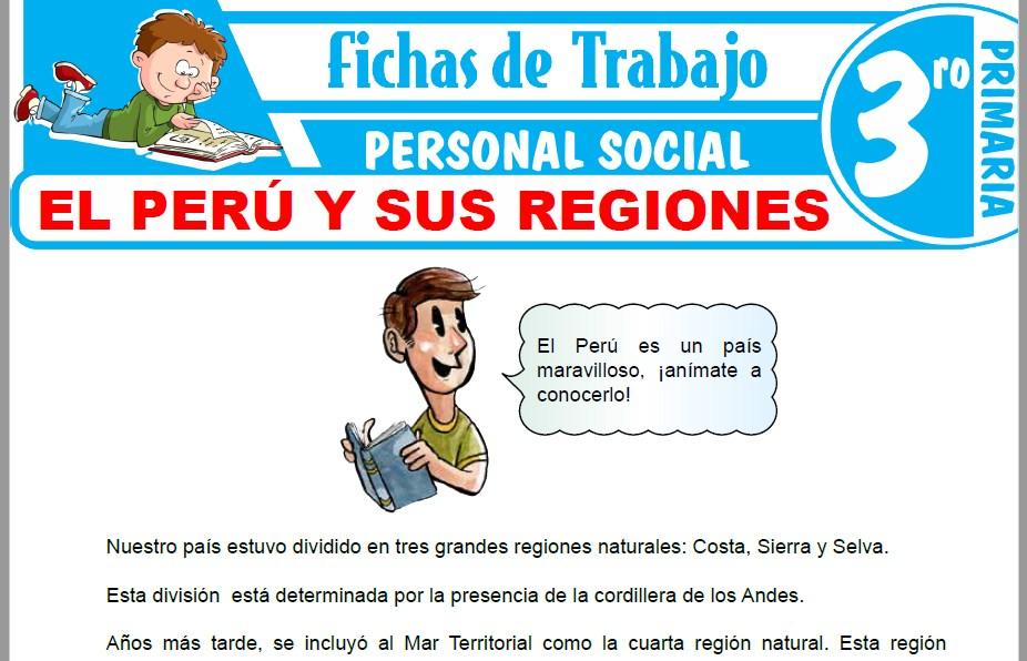Modelos de la Ficha de El Perú y sus regiones para Tercero de Primaria