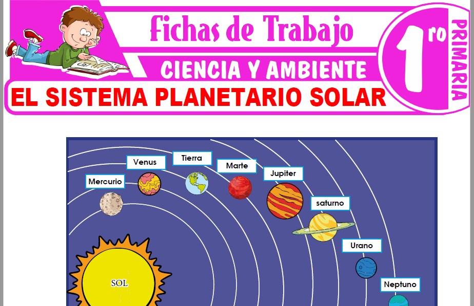 Modelos de la Ficha de El Sistema Planetario Solar para Primero de Primaria