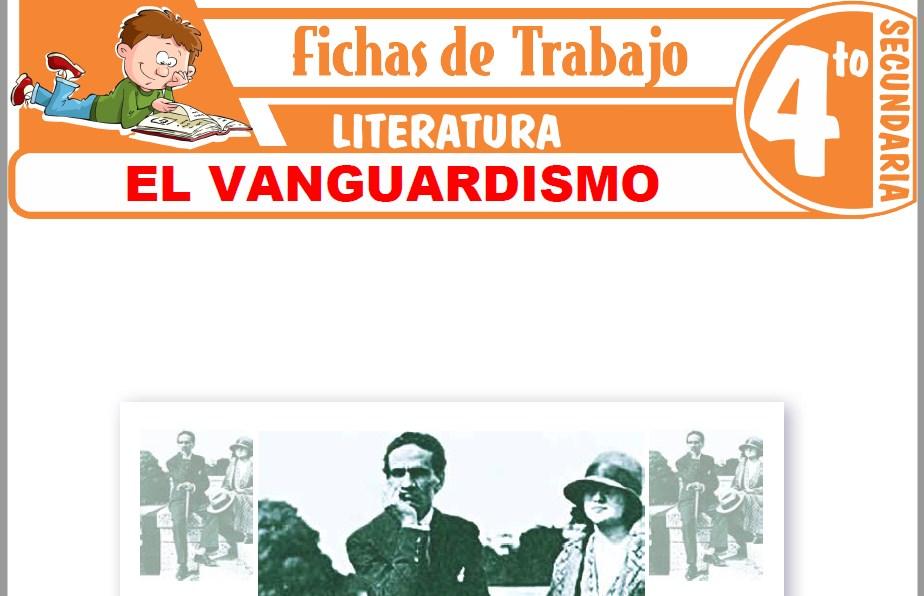 Modelos de la Ficha de El Vanguardismo para Cuarto de Secundaria