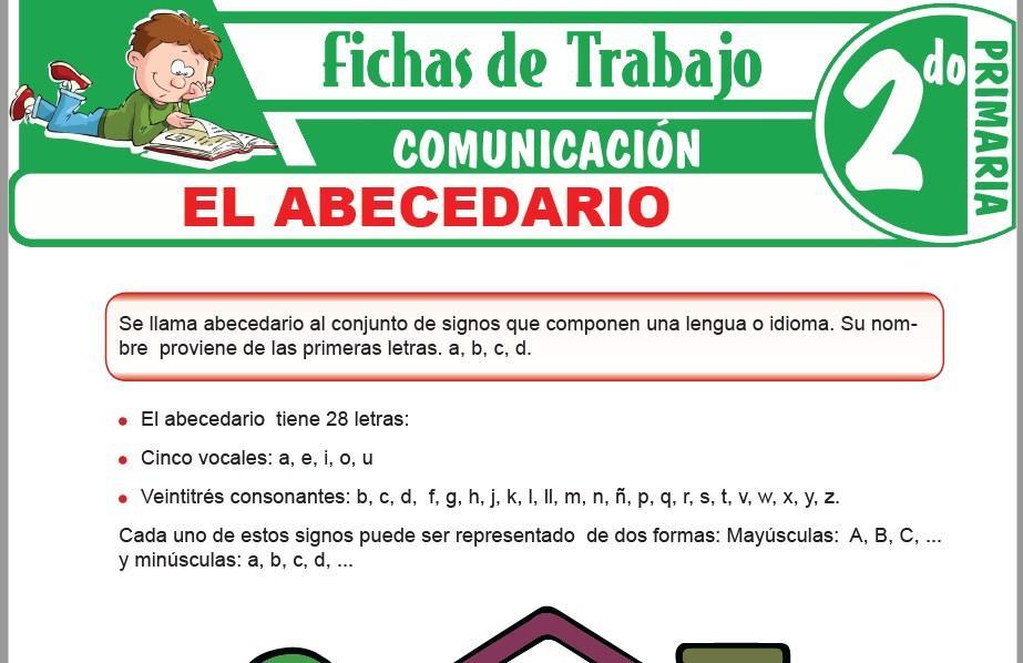 Modelos de la Ficha de El abecedario para Segundo de Primaria