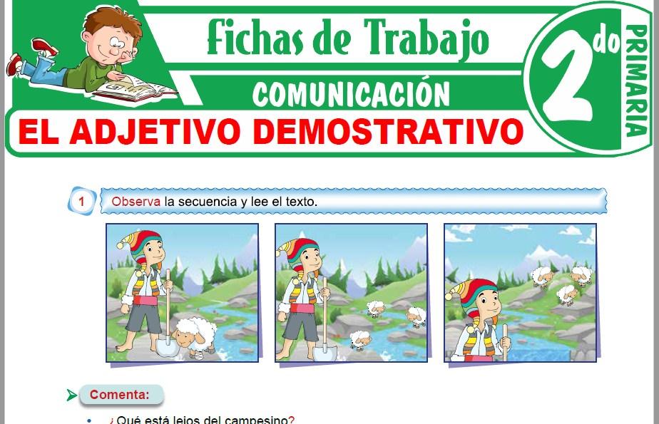 Modelos de la Ficha de El adjetivo demostrativo para Segundo de Primaria