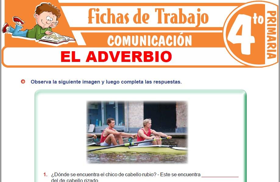 Modelos de la Ficha de El adverbio para Cuarto de Primaria