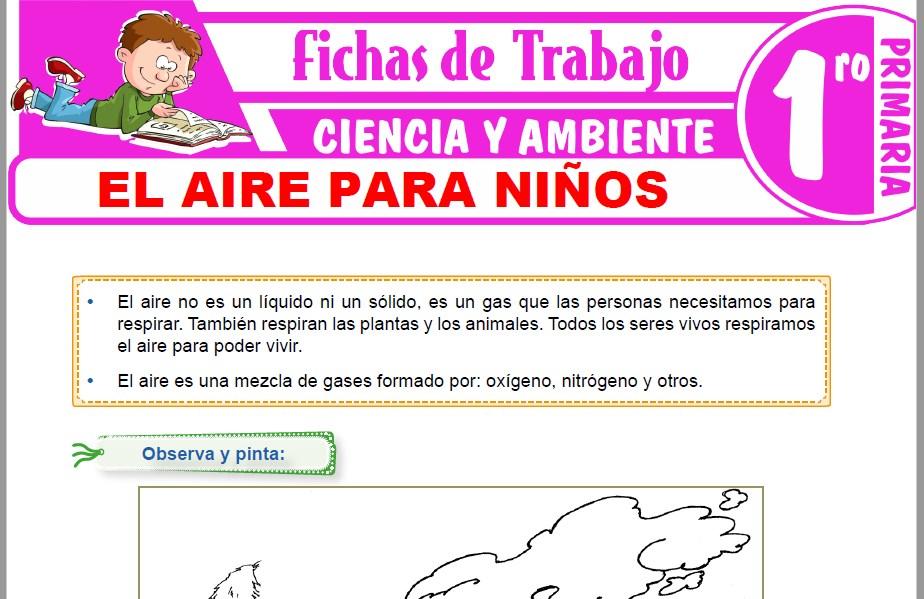 Modelos de la Ficha de El aire para niños para Primero de Primaria