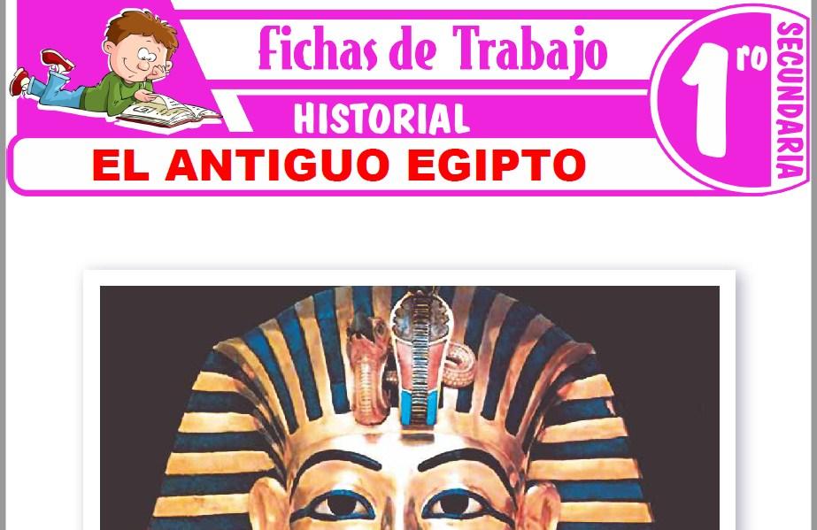 Modelos de la Ficha de El antiguo Egipto para Primero de Secundaria