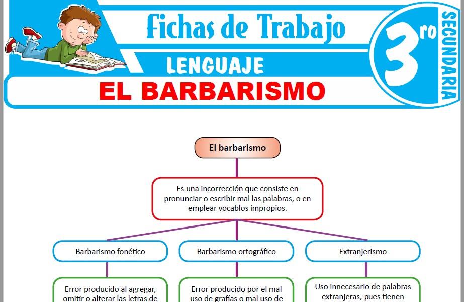 Modelos de la Ficha de El barbarismo para Tercero de Secundaria