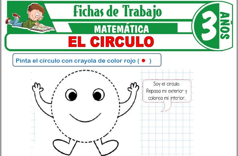Modelos de la Ficha de El circulo para Niños de Tres Años