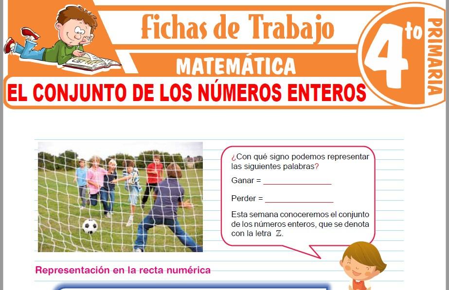Modelos de la Ficha de El conjunto de los números enteros para Cuarto de Primaria