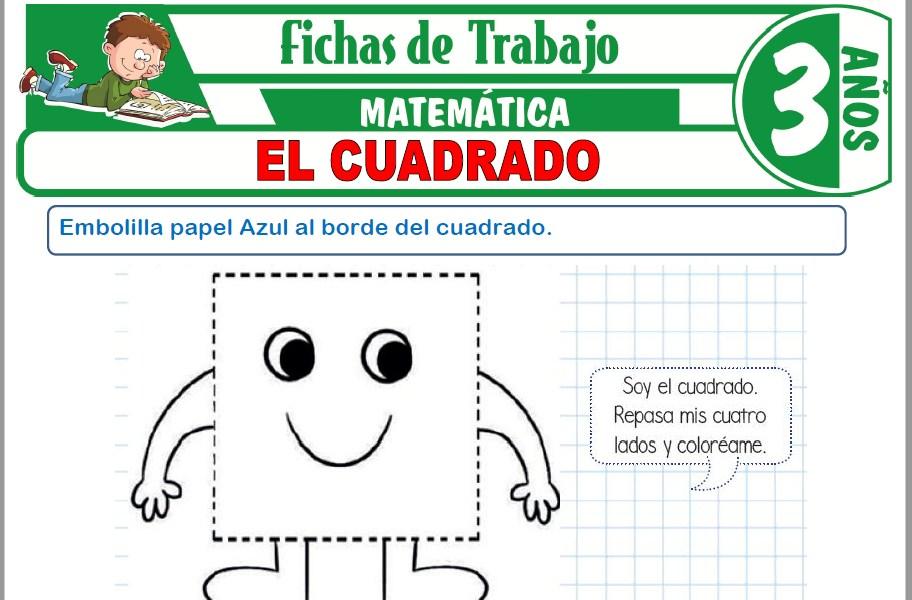 Modelos de la Ficha de El cuadrado para Niños de Tres Años