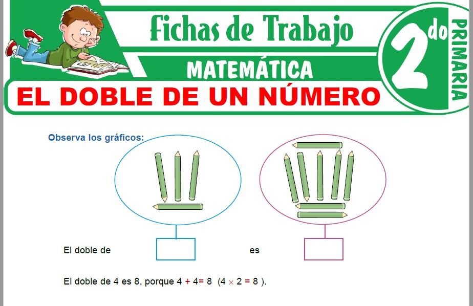 Modelos de la Ficha de El doble de un número para Segundo de Primaria