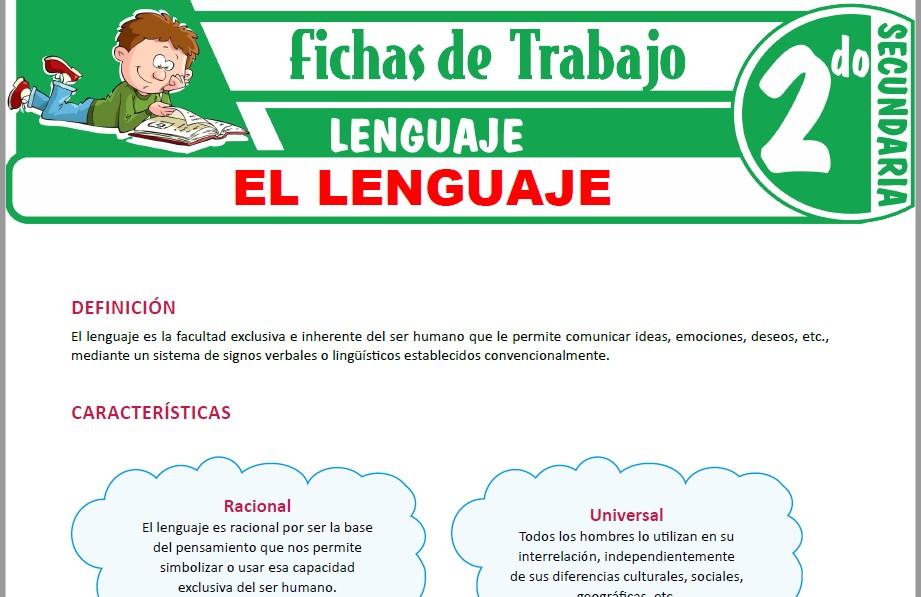Modelos de la Ficha de El lenguaje para Segundo de Secundaria
