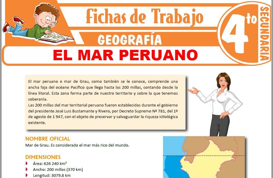 Modelos de la Ficha de El mar peruano para Cuarto de Secundaria