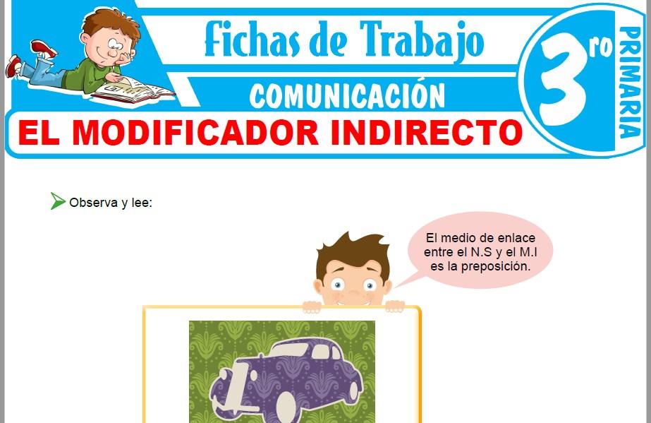 Modelos de la Ficha de El modificador indirecto para Tercero de Primaria