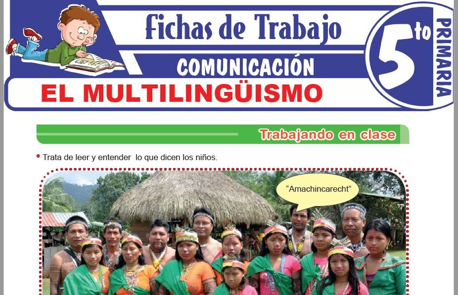 Modelos de la Ficha de El multilingüismo para Quinto de Primaria