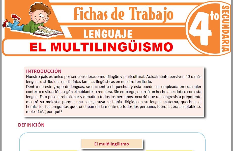 Modelos de la Ficha de El multilingüismo para Cuarto de Secundaria