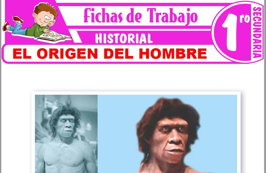 Modelos de la Ficha de El origen del hombre para Primero de Secundaria