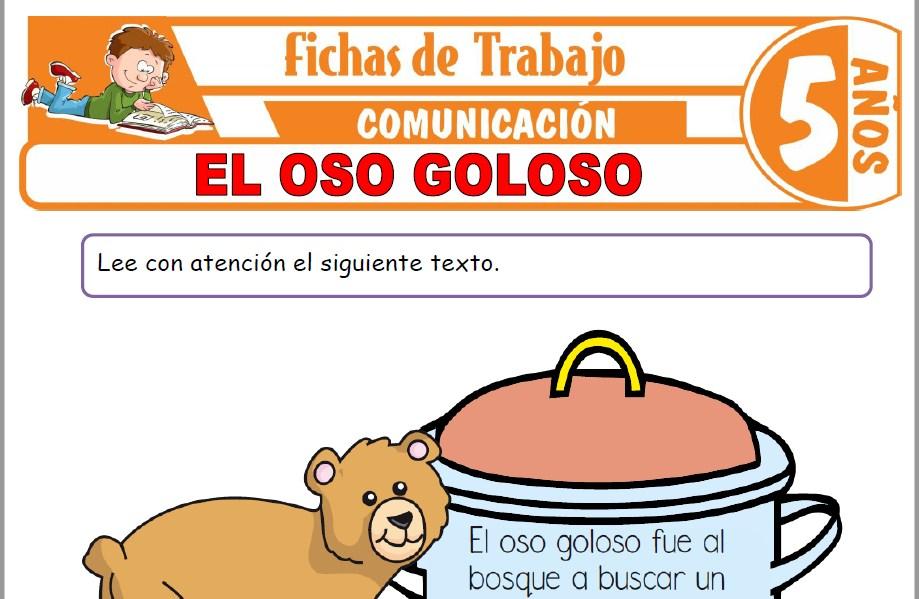 Modelos de la Ficha de El oso goloso para Niños de Cinco Años