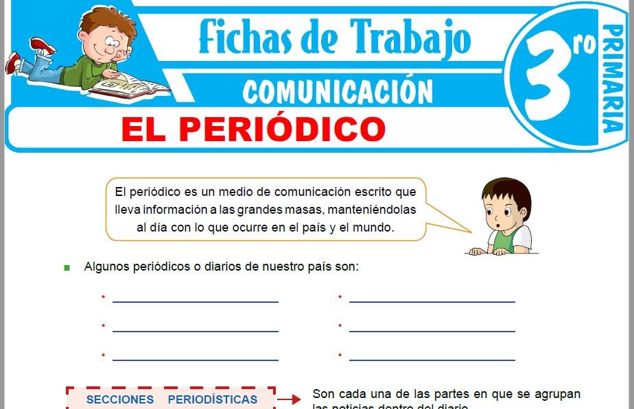 Modelos de la Ficha de El periódico para Tercero de Primaria