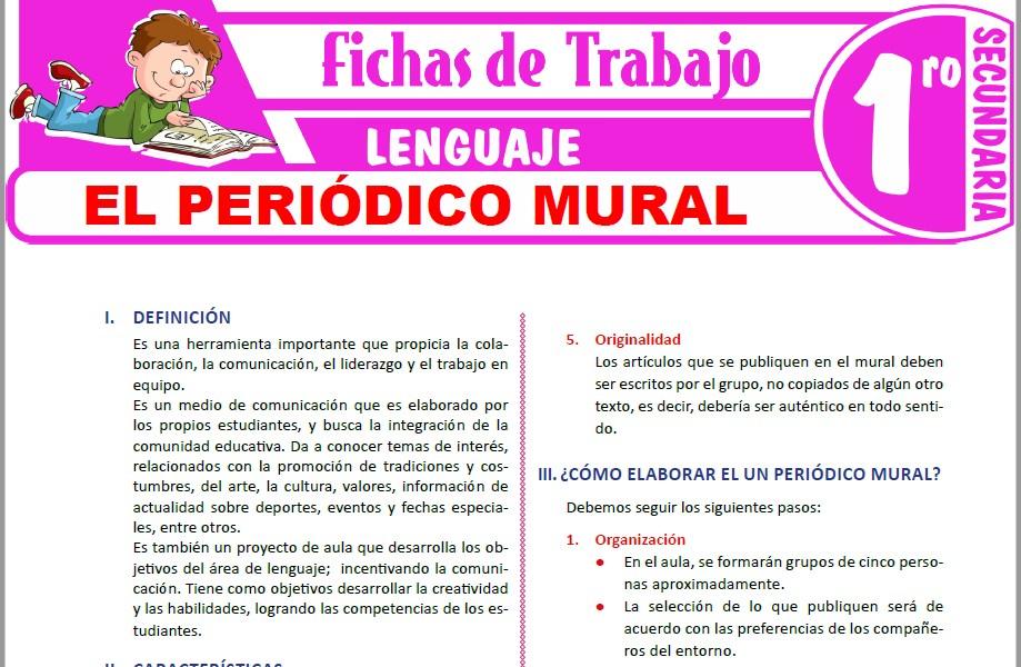 Modelos de la Ficha de El periódico mural para Primero de Secundaria