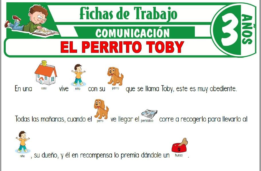 Modelos de la Ficha de El perrito Toby para Niños de Tres Años