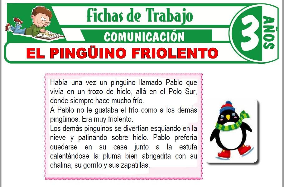 Modelos de la Ficha de El pingüino friolento para Niños de Tres Años