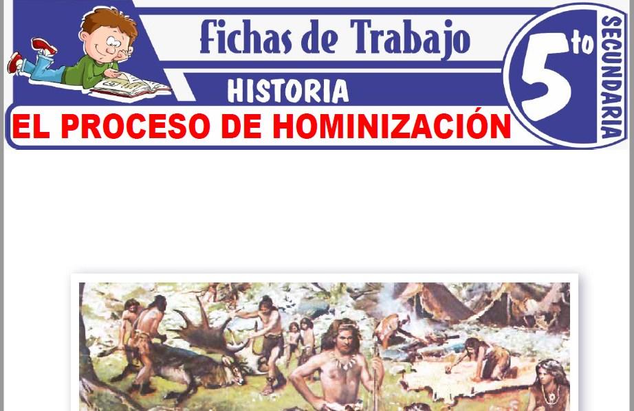 Modelos de la Ficha de El proceso de hominización para Quinto de Secundaria